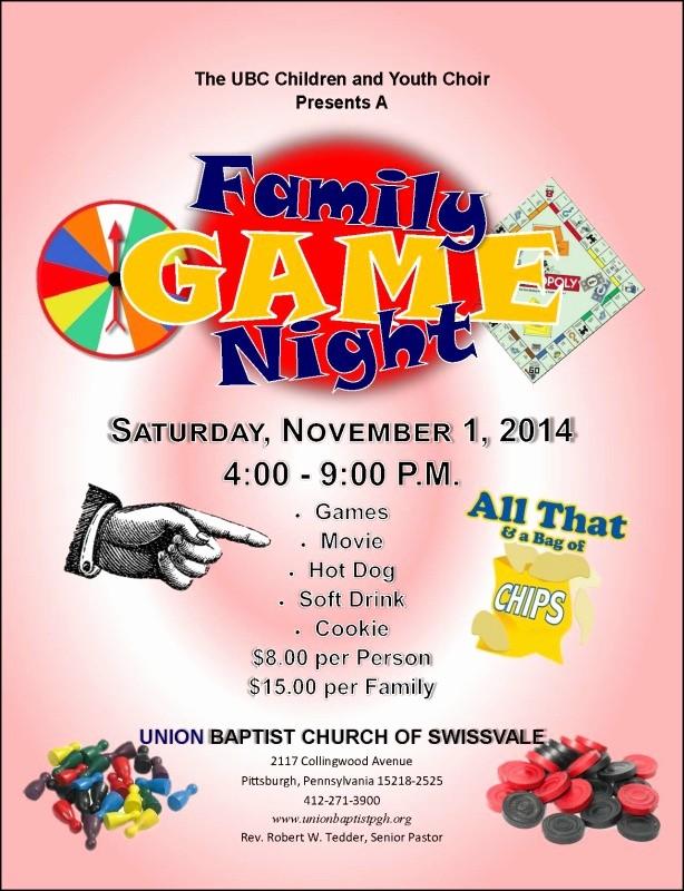 Family Fun Night Flyer Template Inspirational the Gallery for Family Game Night Flyer Template
