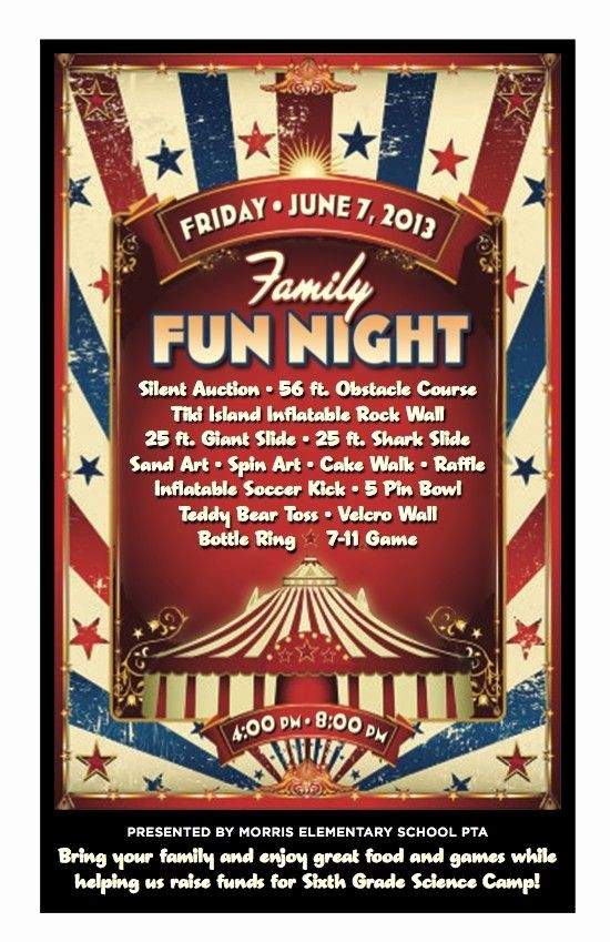 Family Fun Night Flyer Template Lovely 17 Best Images About Ptc Family Nights On Pinterest