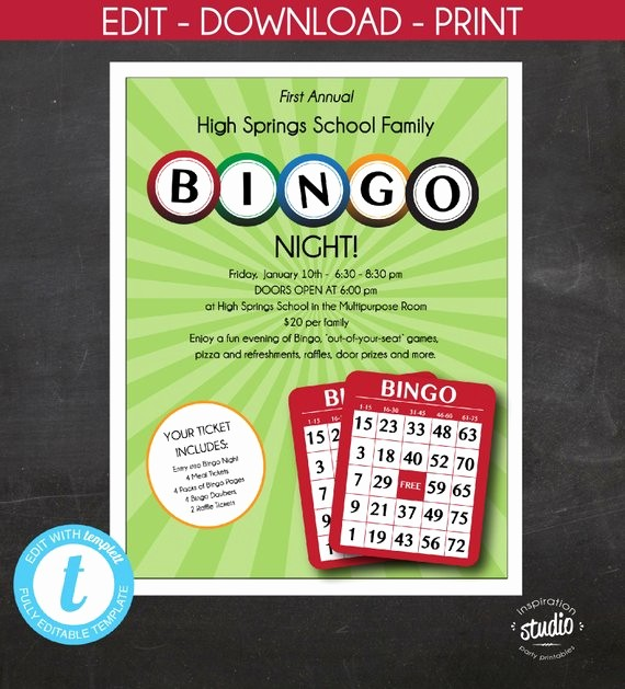 Family Fun Night Flyer Template Luxury Bingo Night Flyer Family Night Mother and son Night School