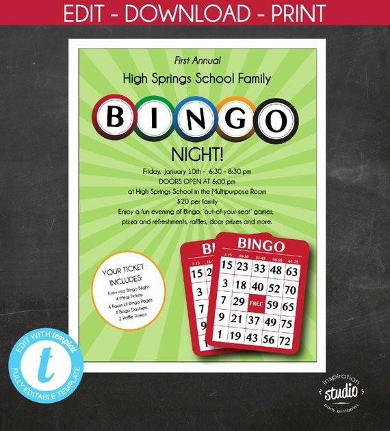 Family Fun Night Flyer Template Luxury Bingo Night Flyer Family Night Mother and son Night School
