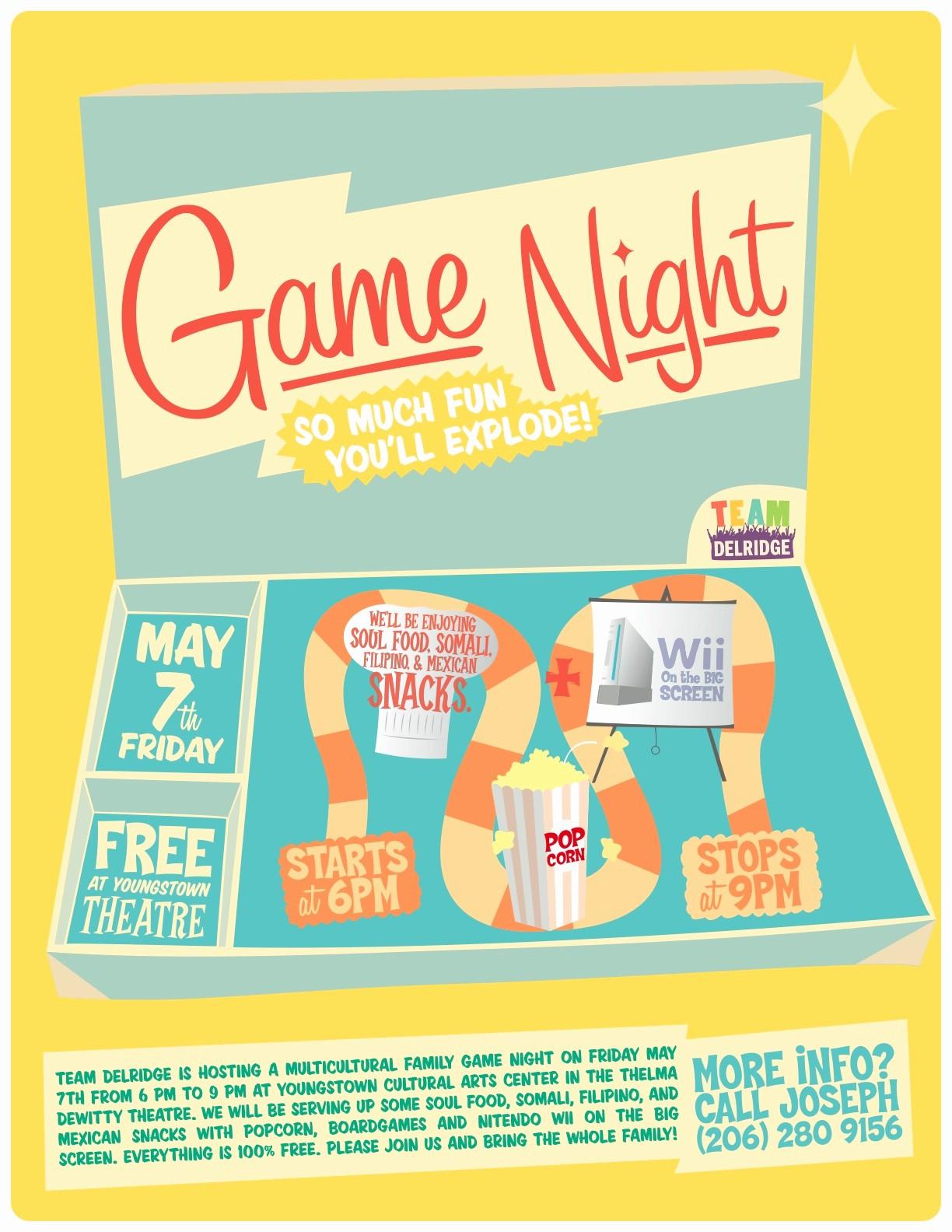 Family Fun Night Flyer Template Luxury Game Night Flyer Template Yourweek Eca25e