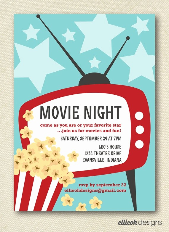Family Fun Night Flyer Template New 17 Best Images About Movie Invitations On Pinterest