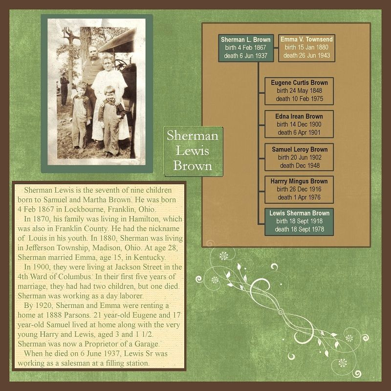 Family History Book Layout Ideas Best Of Family History Scrapbook Layout with Mini Family Tree
