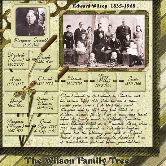 Family History Book Layout Ideas Luxury Edward Wilson 1835 1908 Sample Of Family History