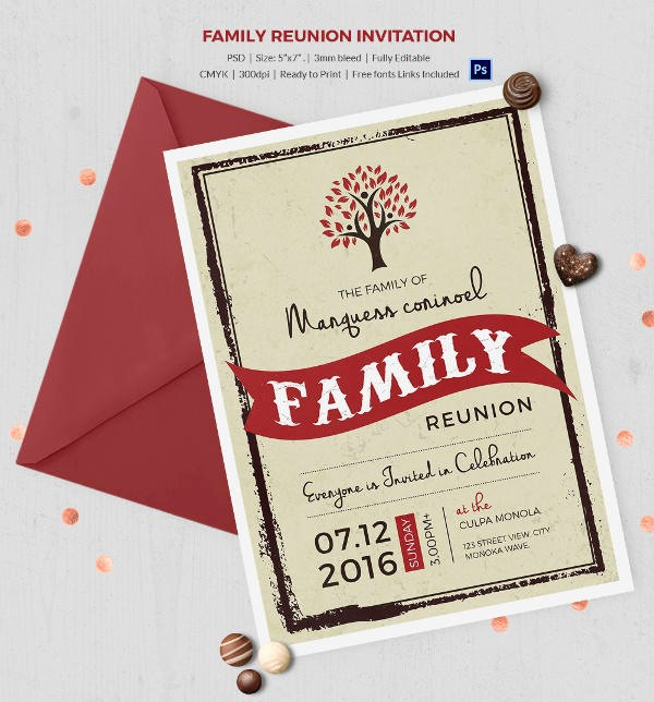 Family Reunion Flyer Templates Free Awesome 32 Family Reunion Invitation Templates Free Psd Vector