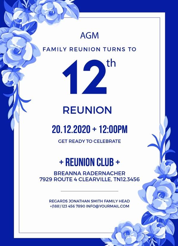 Family Reunion Flyer Templates Free Beautiful 34 Family Reunion Invitation Template Free Psd Vector