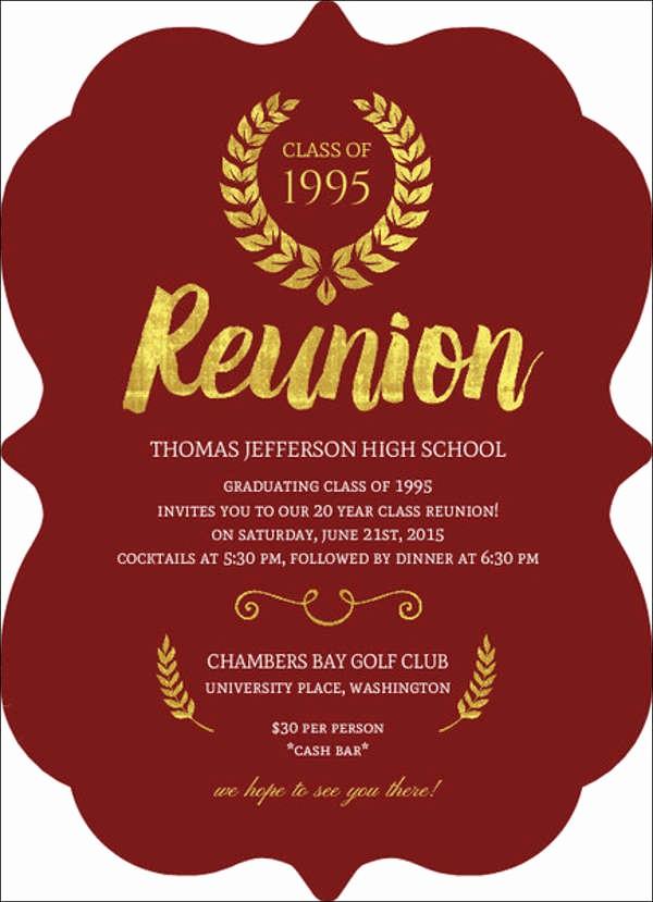 Family Reunion Flyer Templates Free Fresh 15 Reunion Invitation Templates Psd Ai