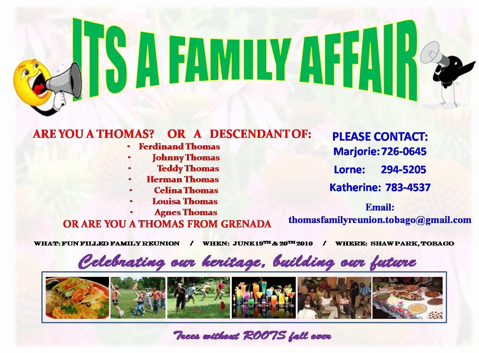 Family Reunion Flyer Templates Free Lovely Thomas Reunion Flyer Thomas Family Reunion Web
