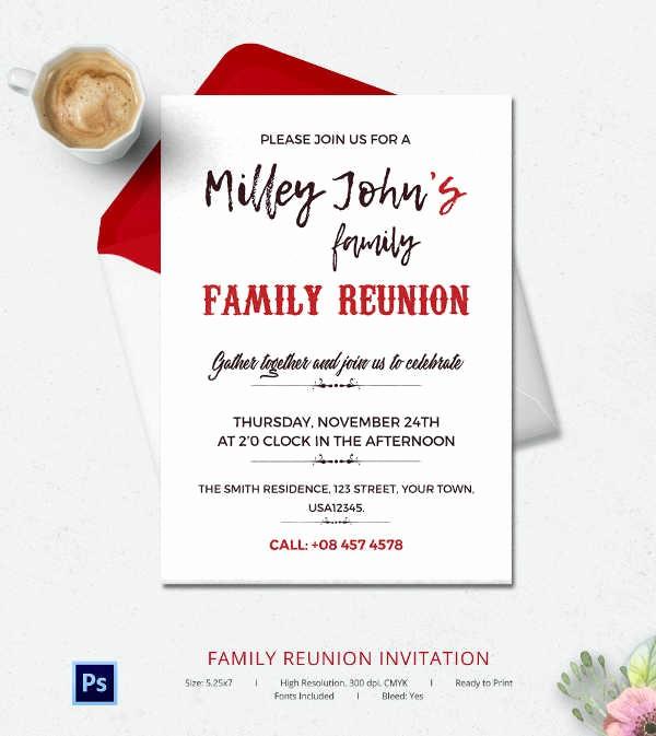 Family Reunion Flyer Templates Free Luxury 32 Family Reunion Invitation Templates Free Psd Vector