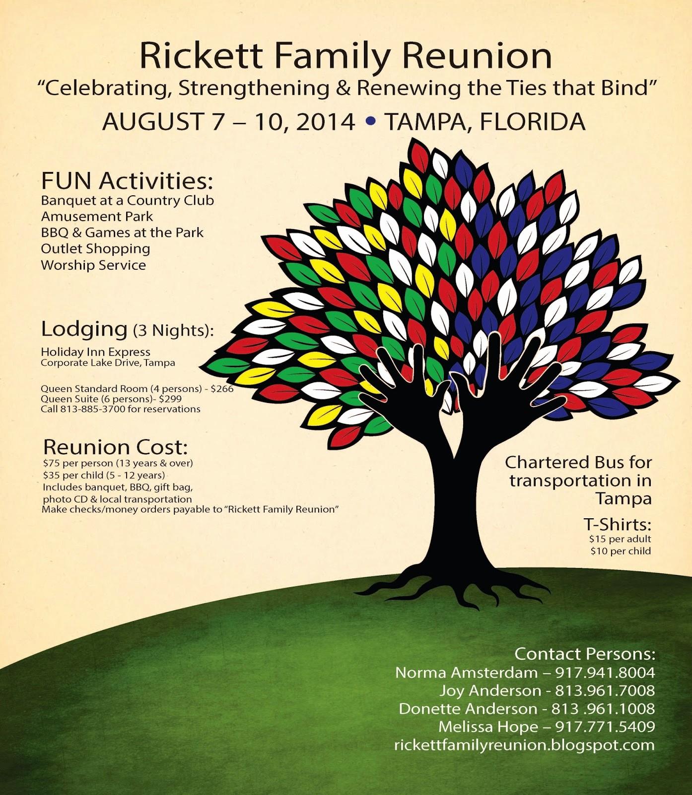 Family Reunion Flyer Templates Free Luxury Rickett Family Reunion Blog