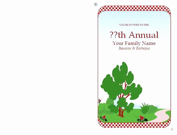 Family Reunion Flyer Templates Free New Family Reunion Invitations Microsoft Word Templates