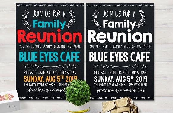 Family Reunion Flyer Templates Free New Family Reunion Party Flyer Card Templates Creative Market