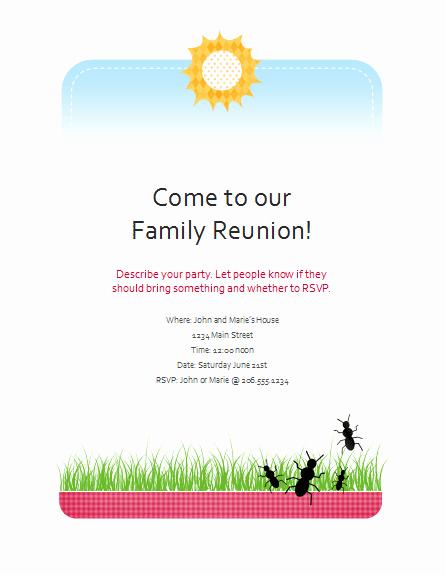 Family Reunion Flyer Templates Free Unique Download Family Reunion Flyer Free Flyer Templates for