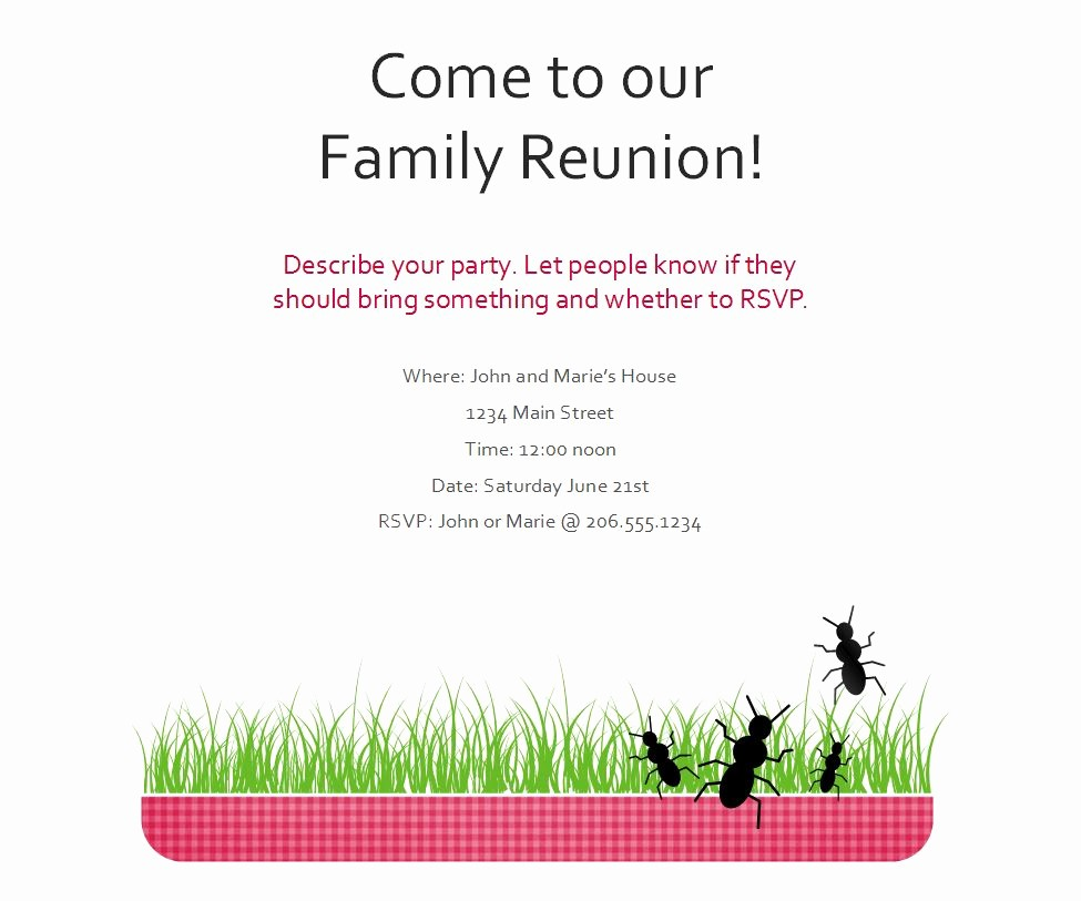 Family Reunion Flyer Templates Free Unique Family Reunion Flyer
