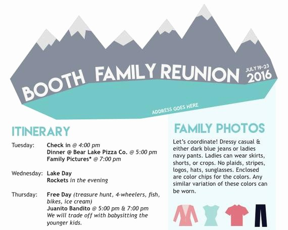 Family Reunion Newsletter Templates Free Awesome Items Similar to Family Reunion Newsletter Mountains