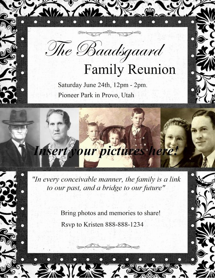 Family Reunion Newsletter Templates Free Best Of 10 Best Family Reunion Newsletter Images On Pinterest