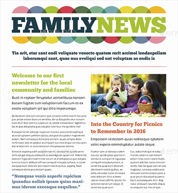 Family Reunion Newsletter Templates Free Best Of Free Family Newsletter Template 13 Ingenious Ways You Can