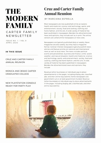 Family Reunion Newsletter Templates Free Elegant Template Brochure Template for Google Slides Family