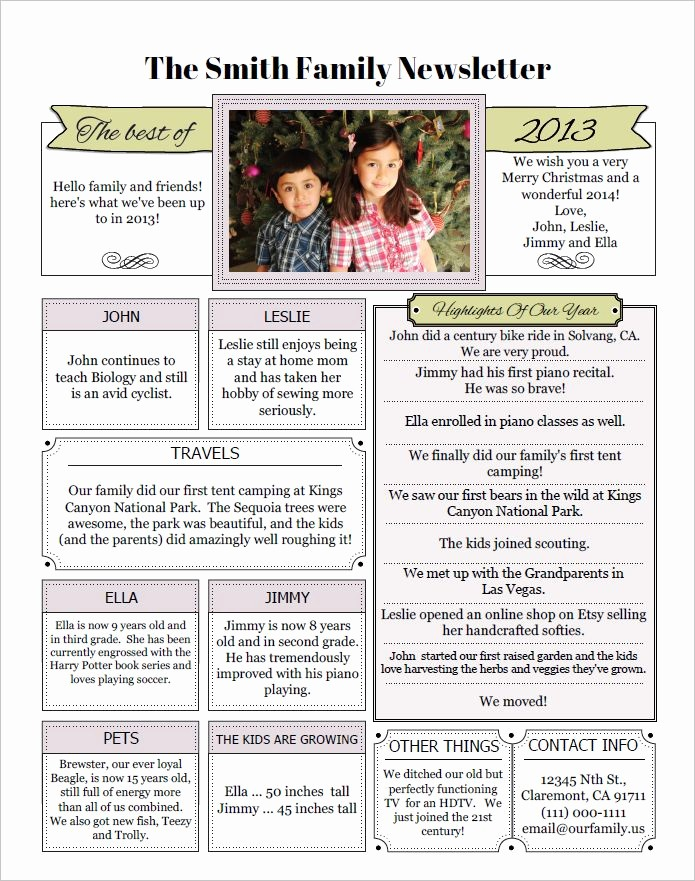 Family Reunion Newsletter Templates Free Lovely 39 Best Images About Memory Family Newsletter On