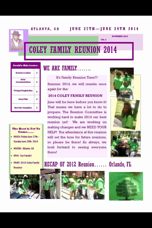Family Reunion Newsletter Templates Free Lovely Family Reunion Newsletter 2014 Reunion Newsletter Ideas