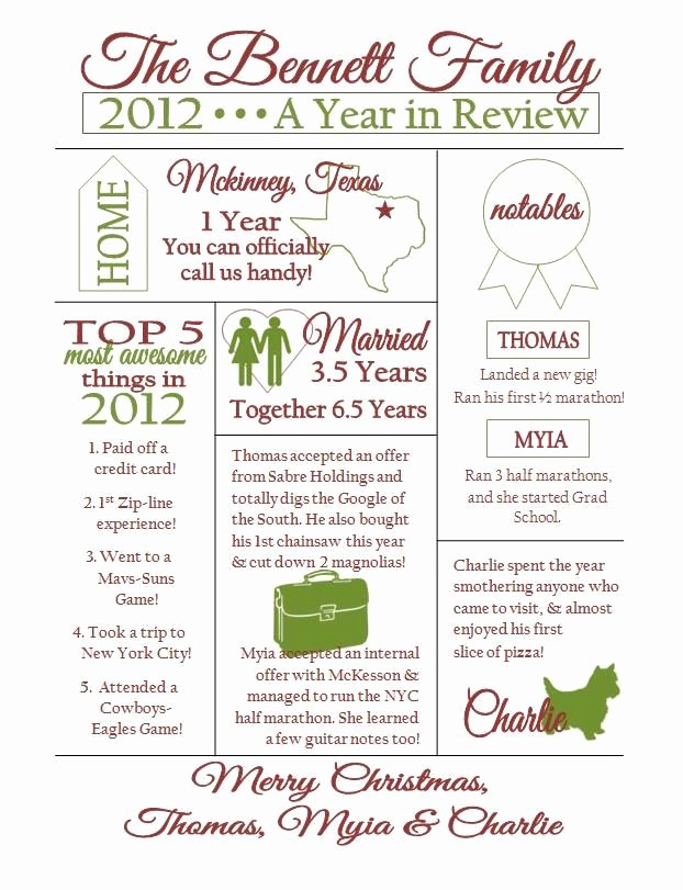 Family Reunion Newsletter Templates Free Luxury Custom Christmas Family Newsletter Love This Must