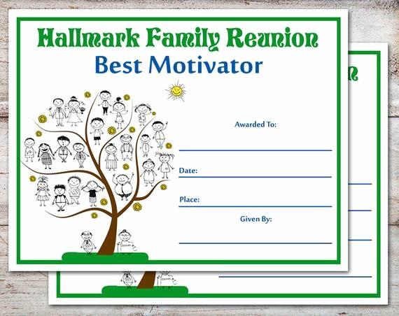 Family Reunion Newsletter Templates Free Luxury Editable Family Reunion Awards Family Reunion Certificates