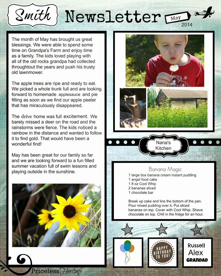 Family Reunion Newsletter Templates Free New 12 Best Family Reunion Newsletter Images On Pinterest