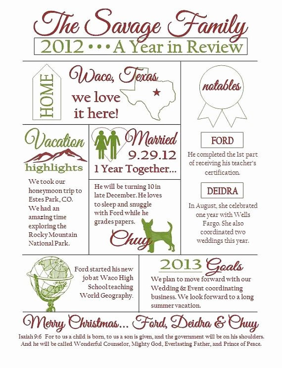 Family Reunion Newsletter Templates Free Unique Custom Christmas Family Newsletter