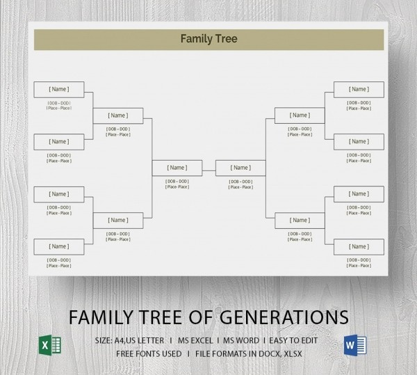 Family Tree Microsoft Word Template Fresh Blank Family Tree Template 32 Free Word Pdf Documents