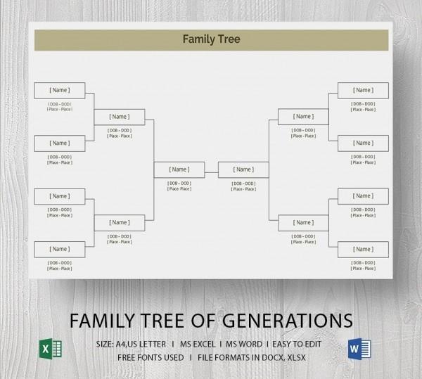 Family Tree Microsoft Word Template Fresh Blank Family Tree Template 32 Free Word Pdf Documents