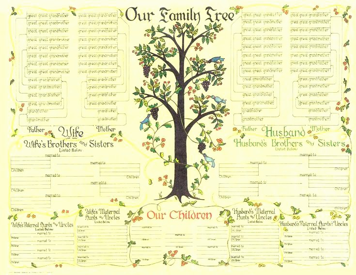 Family Tree Microsoft Word Template New Family Tree Template Chart Pa Dutch Country Store Diagram