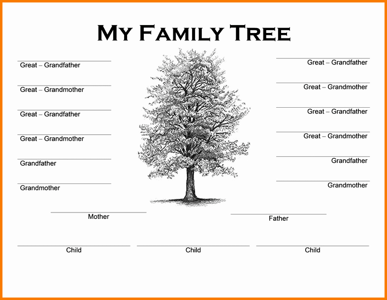 Family Tree Microsoft Word Template New Family Tree Word Template