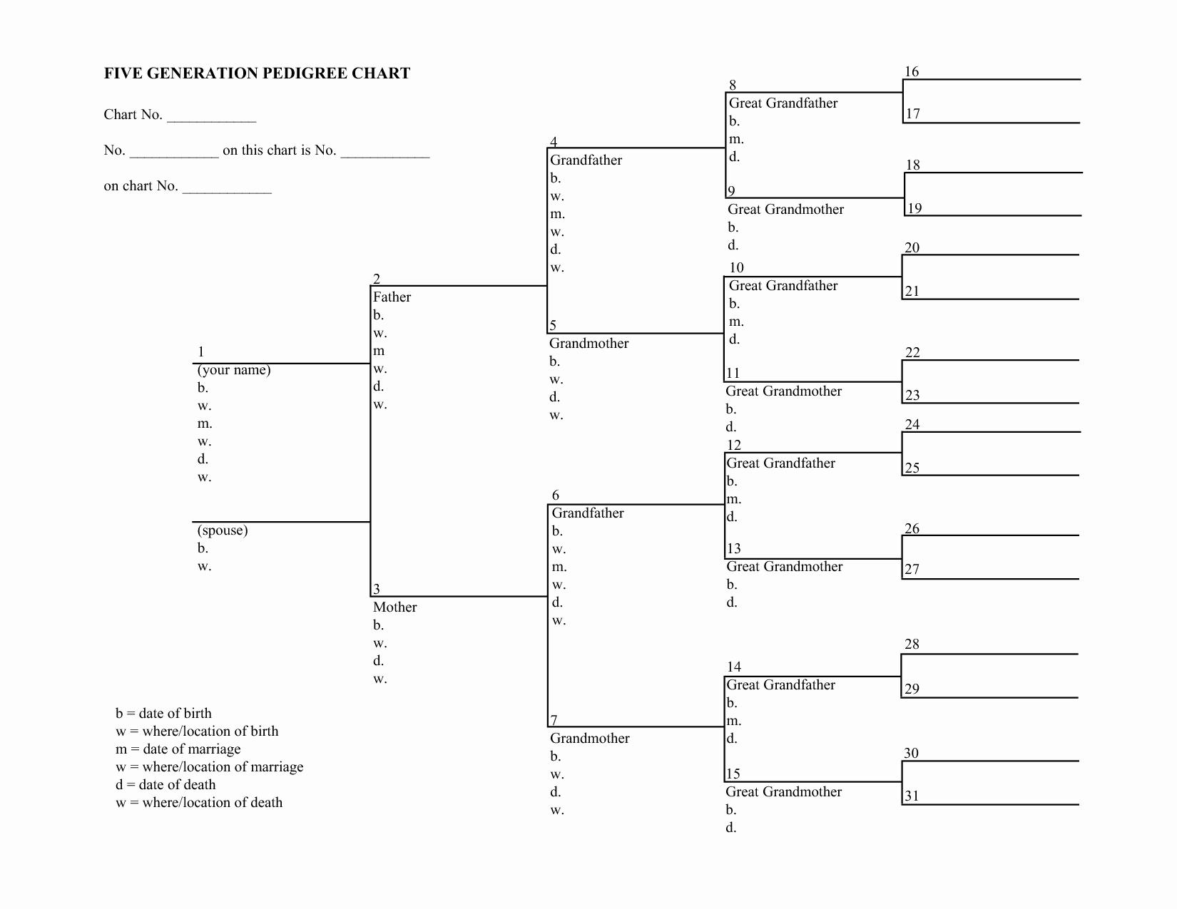 Family Tree Template 5 Generations Elegant 12 Best Of Family Tree Pedigree Chart Worksheet 6