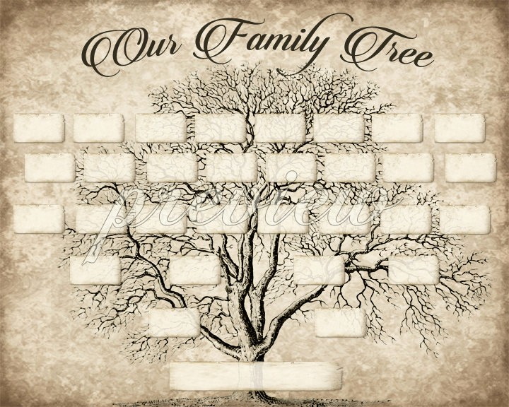 Family Tree Template 5 Generations Elegant Custom Family Tree Printable 5 Generation Template Instant