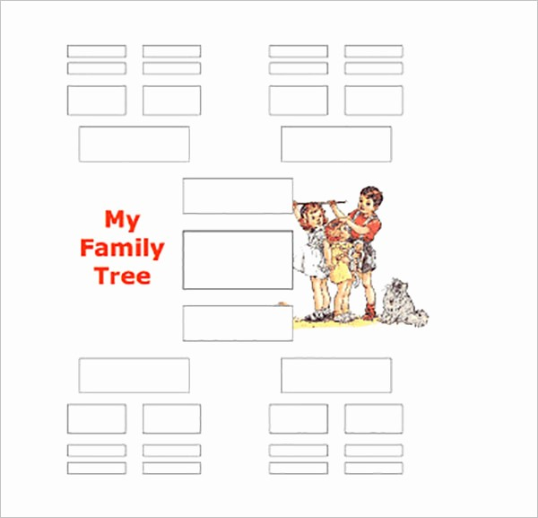 Family Tree Template 5 Generations Elegant Five Generation Family Tree Template