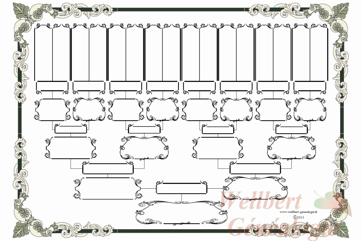 Family Tree Template 5 Generations Luxury Free Family Tree Chart 5 Generations Printable Empty to