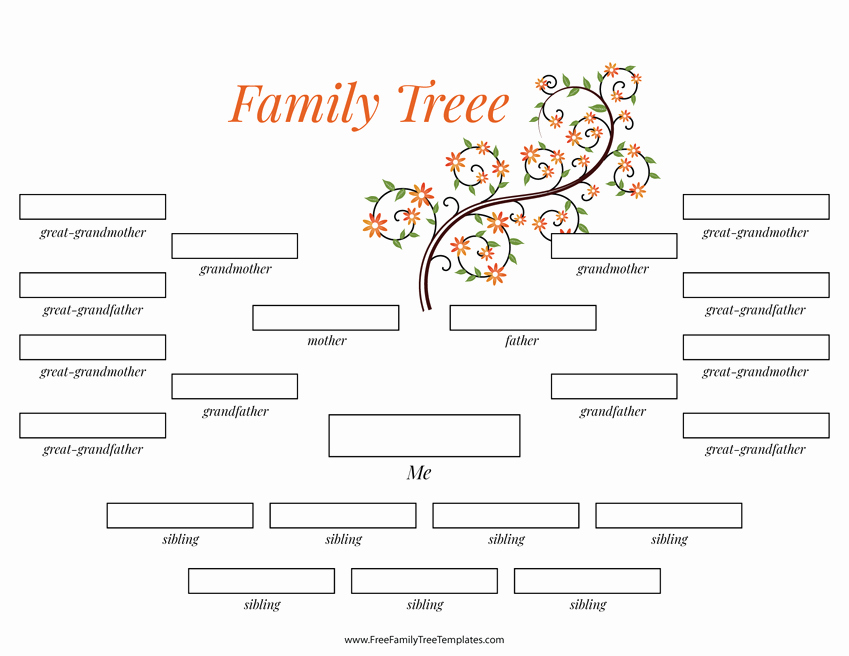 Family Tree Template 5 Generations New 4 Generation Family Tree Many Siblings Template – Free