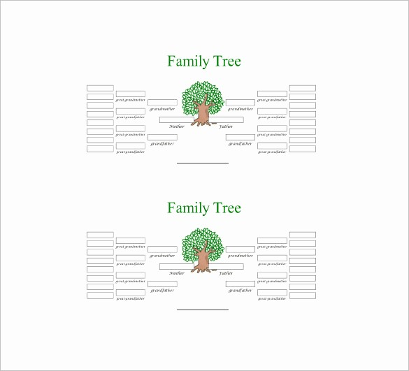 Family Tree Template 5 Generations New Five Generation Family Tree Template – 11 Free Word