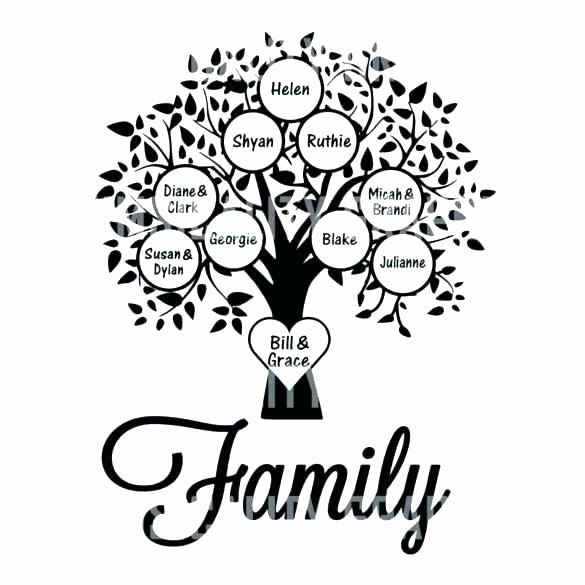 Family Tree Template for Mac Inspirational Editable Family Tree Template – Tylerthomas