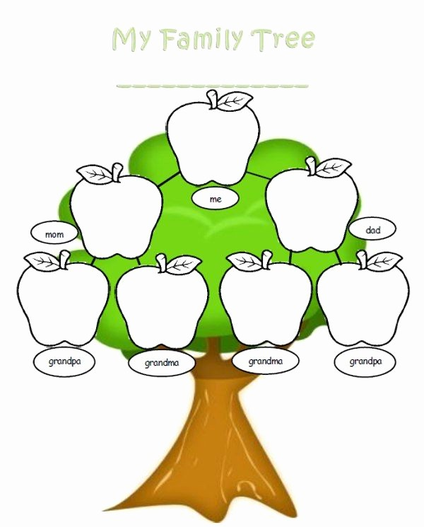 Family Tree Template for Mac Lovely Apple Clipart Family Tree Pencil and In Color Apple