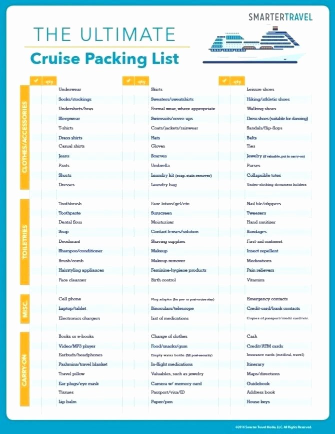 Family Vacation Packing List Template Elegant Beach Vacation Packing List Family Template for Resume