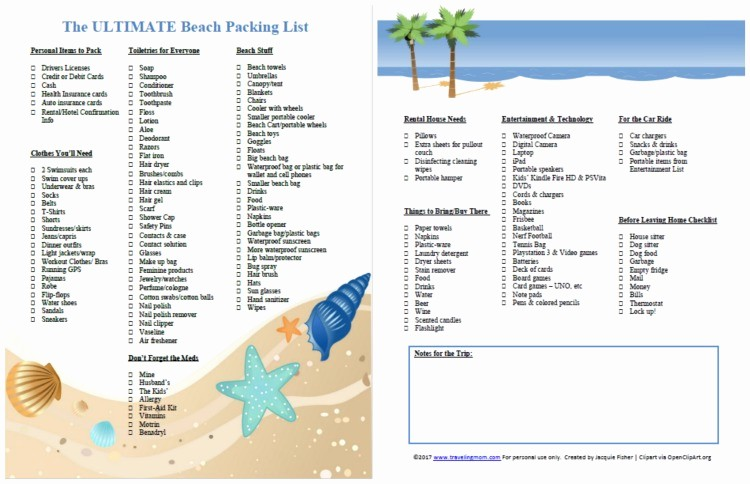 Family Vacation Packing List Template Luxury the Ultimate Family Beach Vacation Packing List and