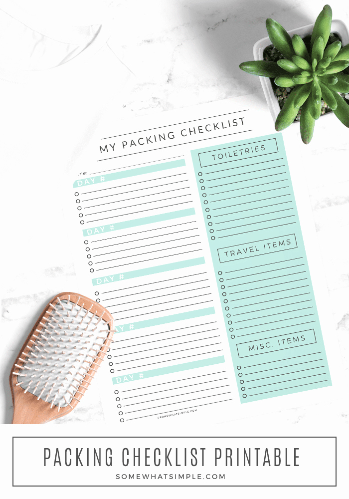 Family Vacation Packing List Template Luxury Travel Packing List Free Printable somewhat Simple