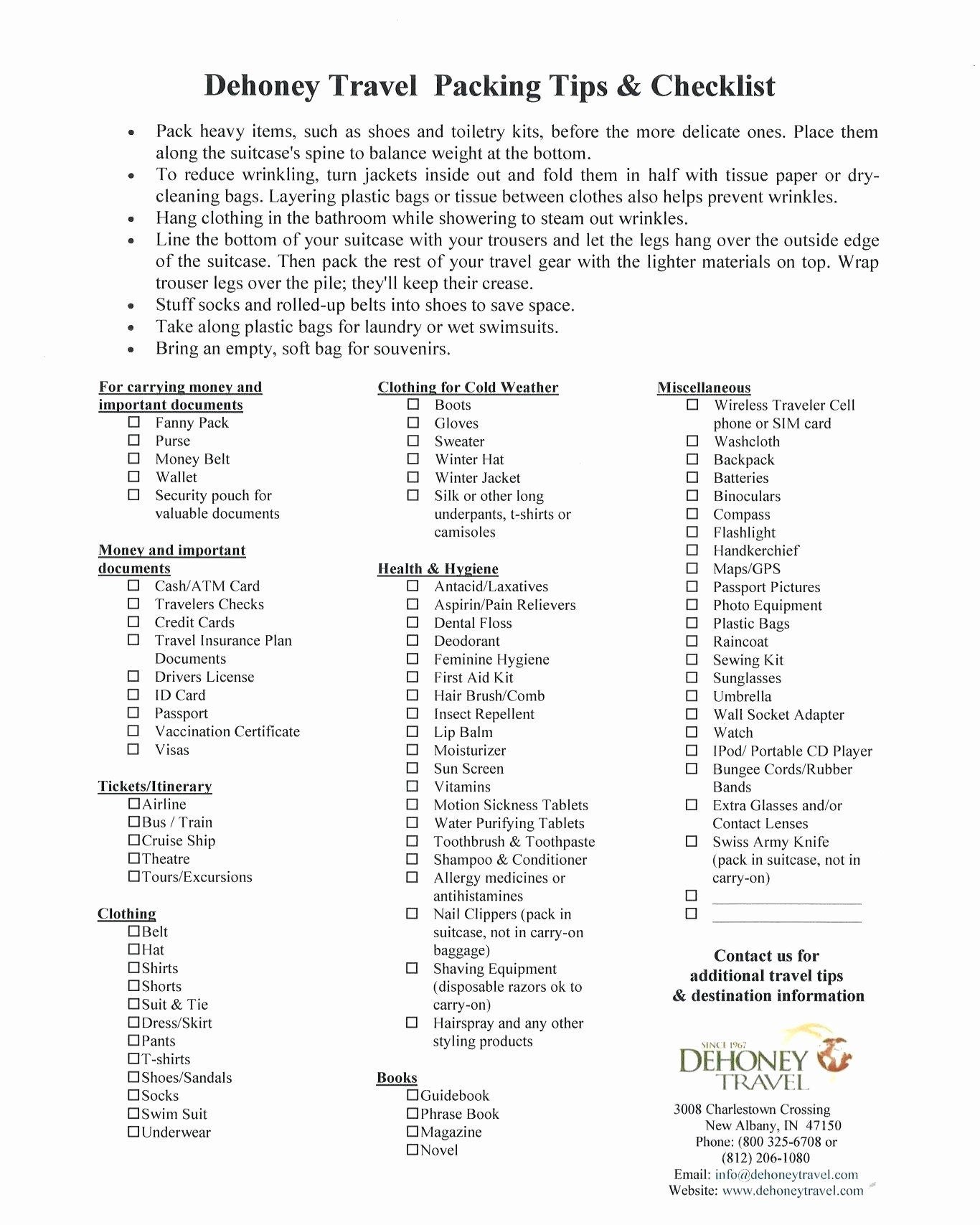 Family Vacation Packing List Template New Template Travel Packing List Template Checklists Cruise