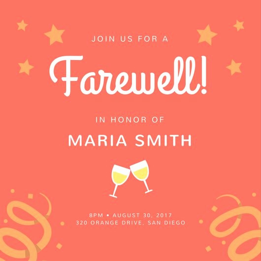 Farewell Party Flyer Template Free Awesome Customize 3 999 Farewell Party Invitation Templates