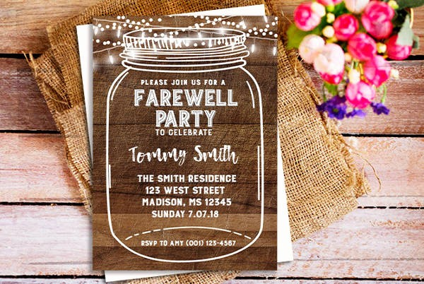 Farewell Party Flyer Template Free Elegant 26 Farewell Invitation Templates Psd Eps Ai