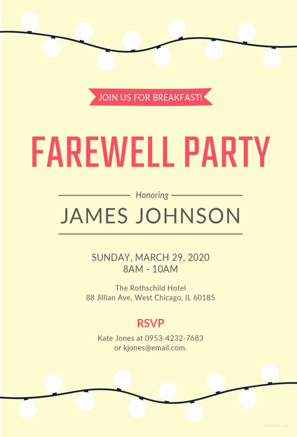 Farewell Party Flyer Template Free Lovely 26 Farewell Invitation Templates Psd Eps Ai
