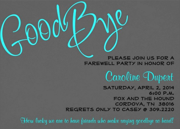 Farewell Party Flyer Template Free Lovely Farewell Party Invitation Template – 20 Free Psd format