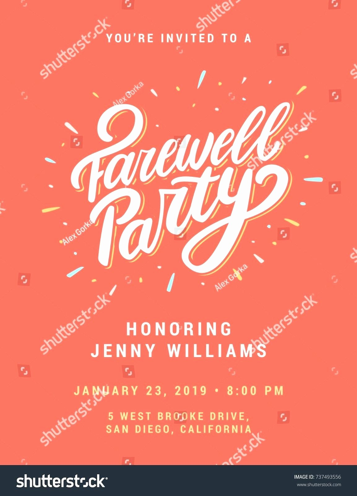 Farewell Party Flyer Template Free New Printable Printable Farewell Card Template