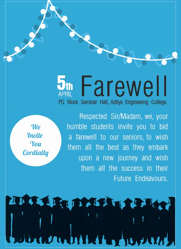 Farewell Party Flyer Template Free Unique 9 Amazing Farewell Invitation Templates to Download